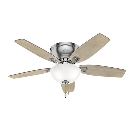 "Large Gray Ceiling Fan: Hunter® Hailey 46"" LED Indoor Ceiling Fan At Menards®"