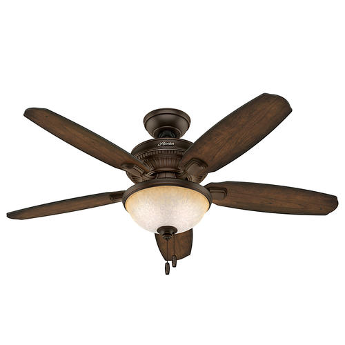 "Hunter® Ashbrook 48"" Brushed Cocoa Indoor LED Ceiling Fan"