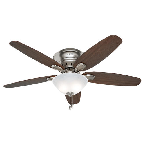 "Hunter Morelli 52 Led Brushed Nickel Ceiling Fan At Menards: Hunter® Fremont 52"" LED Ceiling Fan At Menards®"