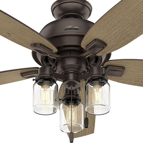 Hunter auburndale 54 onyx bengal led ceiling fan at menards aloadofball Image collections