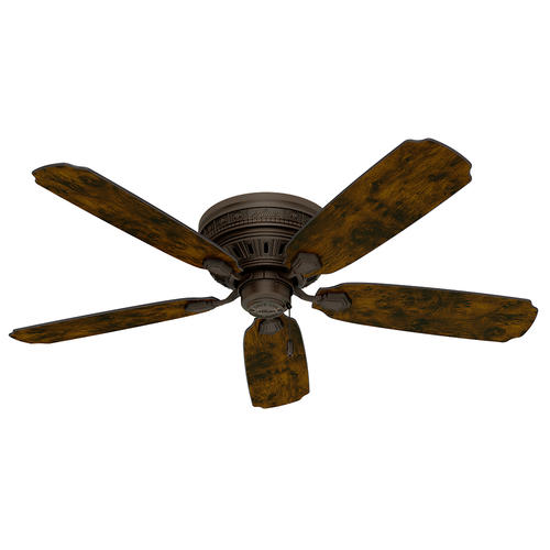"Hunter Low Profile 52 Led Ceiling Fan At Menards: Hunter® Palatine 52"" Old Walnut LED Ceiling Fan At Menards®"