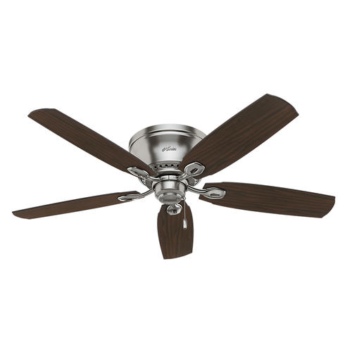 "Hunter Low Profile 52 Led Ceiling Fan At Menards: Hunter® Eastpoint 52"" LED Brushed Nickel Ceiling Fan At"
