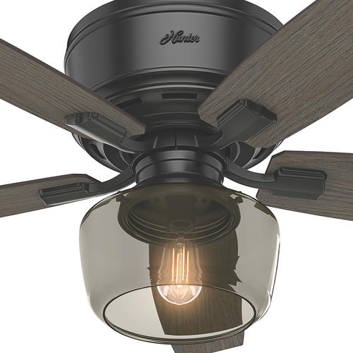 "Hunter Low Profile 52 Led Ceiling Fan At Menards: Hunter® Fan Bennett 52"" Indoor Matte Black Ceiling Fan At"
