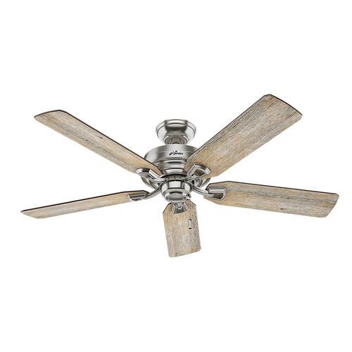 "Hunter Fan Brickfield 52 Indoor Brushed Nickel Ceiling: Hunter® McCollum 52"" LED Indoor Ceiling Fan At Menards®"