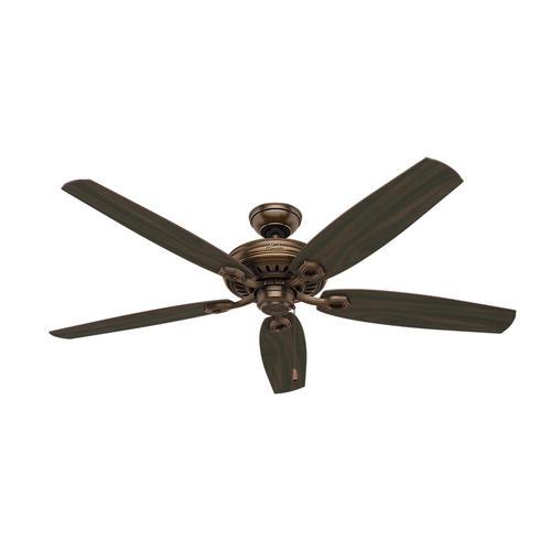 "Hunter® Valerian 60"" Bronze Patina Ceiling Fan"