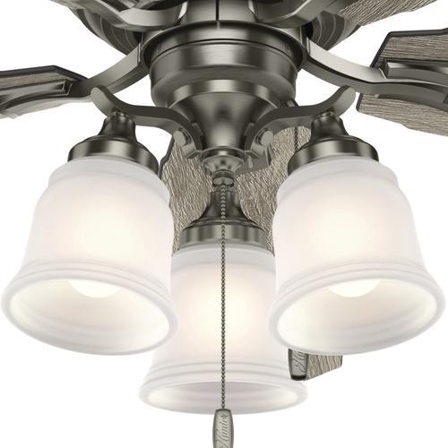 Chrome Ceiling Fan No Light