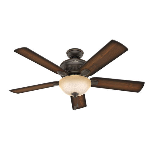 "Hunter® Fan Matheston 52"" Indoor Onyx Bengal Bronze"