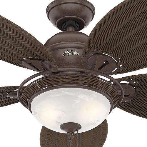 "Ceiling Fan Light Kit At Menards: Hunter® Fan Caribbean Breeze 54"" Indoor Weathered Bronze"