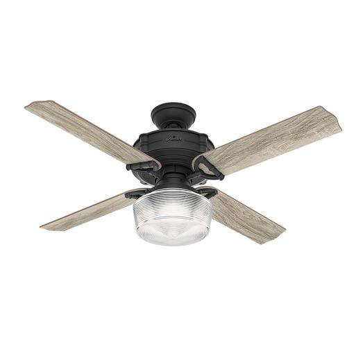 "Hunter Bowmore 52 Led Ceiling Fan At Menards: Hunter® Brunswick 52"" LED Natural Iron Ceiling Fan At Menards®"