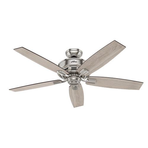 "Hunter Morelli 52 Led Brushed Nickel Ceiling Fan At Menards: Hunter® Fan Bennett 52"" Indoor Brushed Nickel Ceiling Fan"