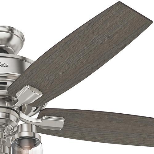 """Helpful Menards Hunter Ceiling Fans 52 Mccollum Fan On: Hunter® Fan Bennett 52"""" Indoor Brushed Nickel Ceiling Fan"""