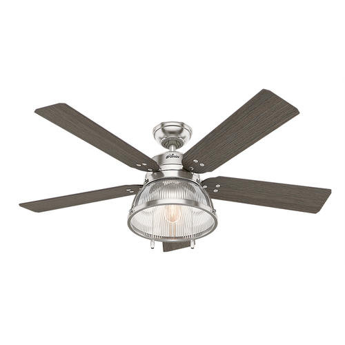 "Hunter Morelli 52 Led Brushed Nickel Ceiling Fan At Menards: Hunter® Walford 52"" LED Brushed Nickel Ceiling Fan At Menards®"