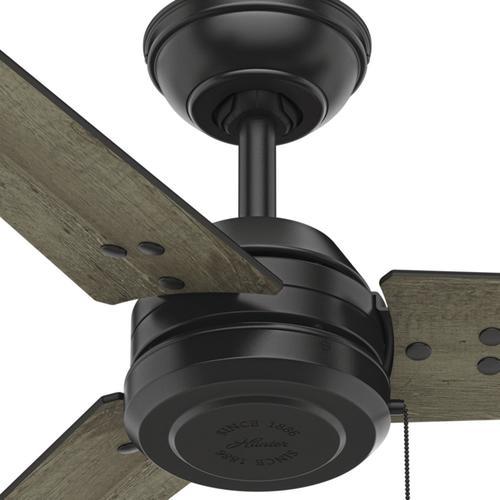 "Helpful Menards Hunter Ceiling Fans 52 Mccollum Fan On: Hunter® Colby 52"" Matted Black Outdoor Ceiling Fan At Menards®"