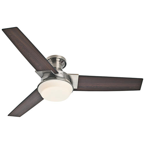 "Hunter Low Profile 52 Led Ceiling Fan At Menards: Hunter® Morelli 52"" LED Brushed Nickel Ceiling Fan At Menards®"