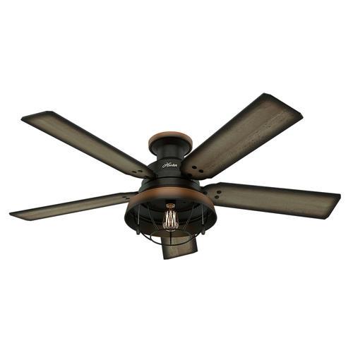 "Hunter Landsdowne 52"" Cheyenne Bronze Damp-Rated Ceiling Fan at ..."