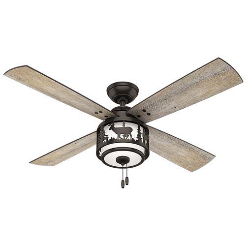 "Hunter Cedar Ridge 52"" Premier Bronze Ceiling Fan with Light at"
