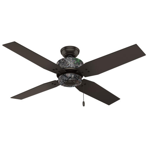 "Ceiling Hunterfan Menards Ceiling Fan Heated Ceiling Fan: Hunter® Timberlane 52"" Premier Bronze Outdoor Ceiling Fan"