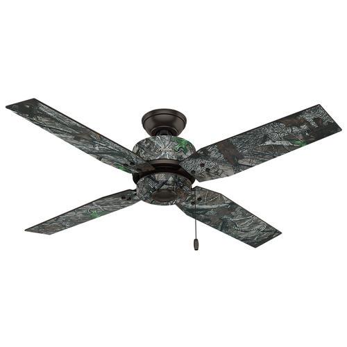 "hunter® timberlane 52"" premier bronze outdoor ceiling fan at menards® Camouflage Ceiling Fan"