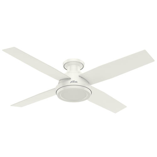 Hunter Low Profile Dempsey 52 Fresh White Indoor Ceiling Fan At Menards