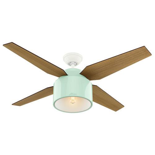 "Hunter Bowmore 52 Led Ceiling Fan At Menards: Hunter® Cranbrook 52"" LED Mint Ceiling Fan At Menards®"