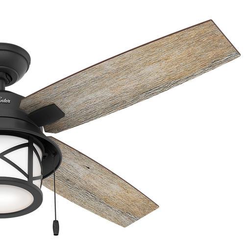 "Hunter Bowmore 52 Led Ceiling Fan At Menards: Hunter® Navasota 52"" LED Natural Iron Outdoor Ceiling Fan"