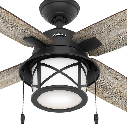 "Helpful Menards Hunter Ceiling Fans 52 Mccollum Fan On: Hunter® Navasota 52"" LED Natural Iron Outdoor Ceiling Fan"