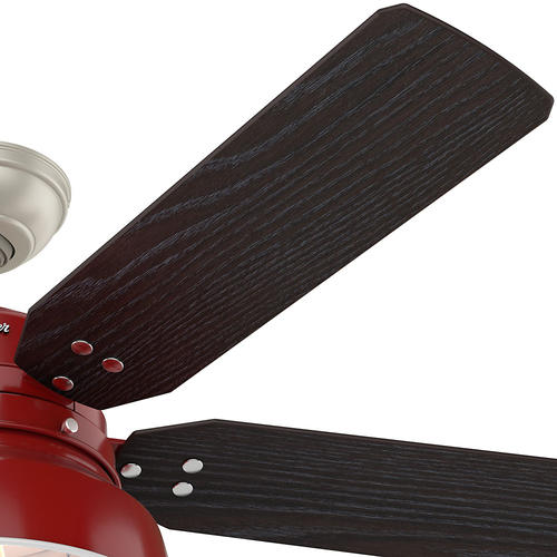 """Hunter® Mill Valley 52"""" Barn Red LED Outdoor Ceiling Fan"""