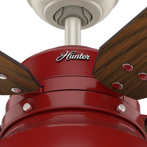 Hunter mill valley 52 barn red led outdoor ceiling fan at menards aloadofball Images