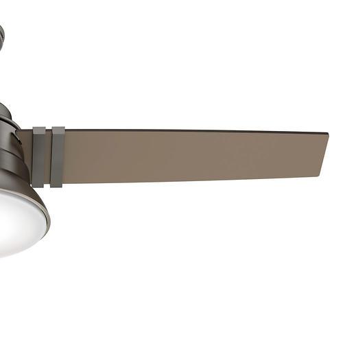 """Hunter Mccollum 52 Led Indoor Ceiling Fan At Menards: Hunter® Clanton 52"""" LED Brushed Slate Ceiling Fan At Menards®"""