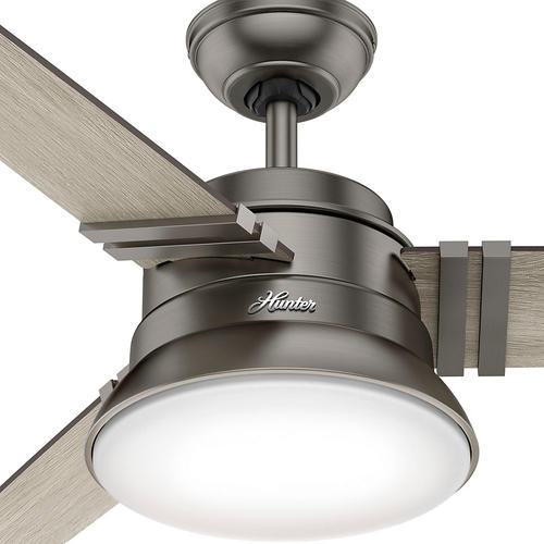 "Helpful Menards Hunter Ceiling Fans 52 Mccollum Fan On: Hunter® Clanton 52"" LED Brushed Slate Ceiling Fan At Menards®"