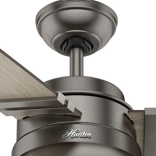 "Hunter Bowmore 52 Led Ceiling Fan At Menards: Hunter® Clanton 52"" LED Brushed Slate Ceiling Fan At Menards®"