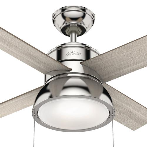 Hunter Loki 36 Polished Nickel Indoor Led Ceiling Fan At Menards