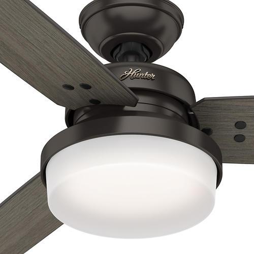 "Hunter Capshaw 60 Premier Bronze Ceiling Fan With Light: Hunter® Sentinel 60"" LED Premier Bronze Ceiling Fan At"