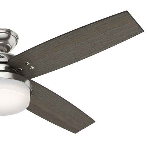 "Hunter Morelli 52 Led Brushed Nickel Ceiling Fan At Menards: Hunter® Mitros 52"" LED Brushed Nickel Ceiling Fan At Menards®"