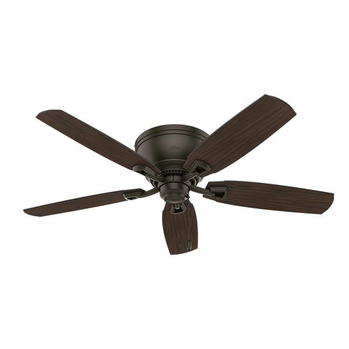 "Hunter Low Profile 52 Led Ceiling Fan At Menards: Hunter® Macallan 52"" LED New Bronze Ceiling Fan At Menards®"