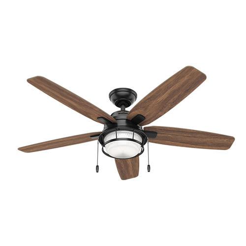 Hunter Bolivar 52 Matte Black Indoor Outdoor Led Ceiling Fan