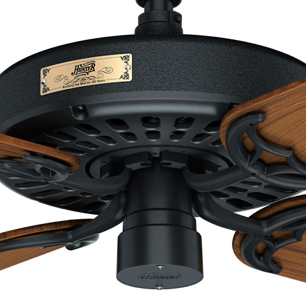 Hunter Original 52 Black Indoor Outdoor Ceiling Fan At Menards