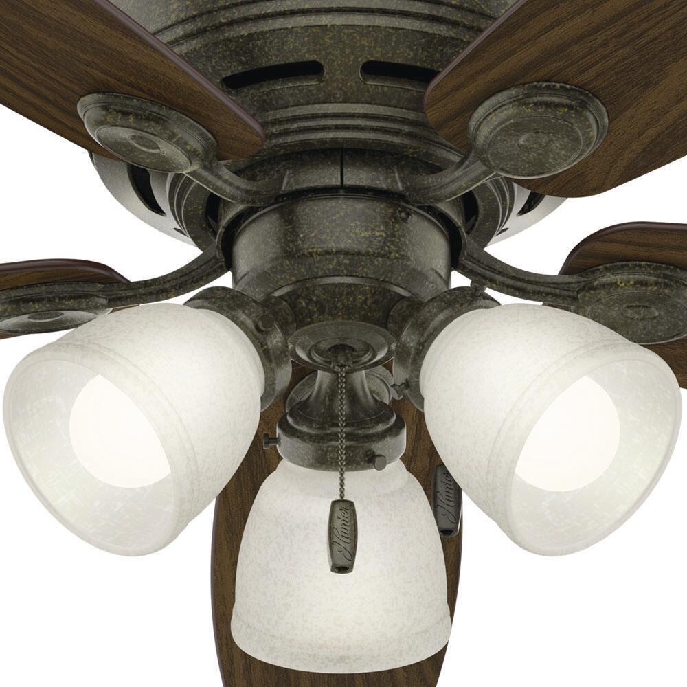 Hunter Low Profile 52 Indoor Led Ceiling Fan At Menards