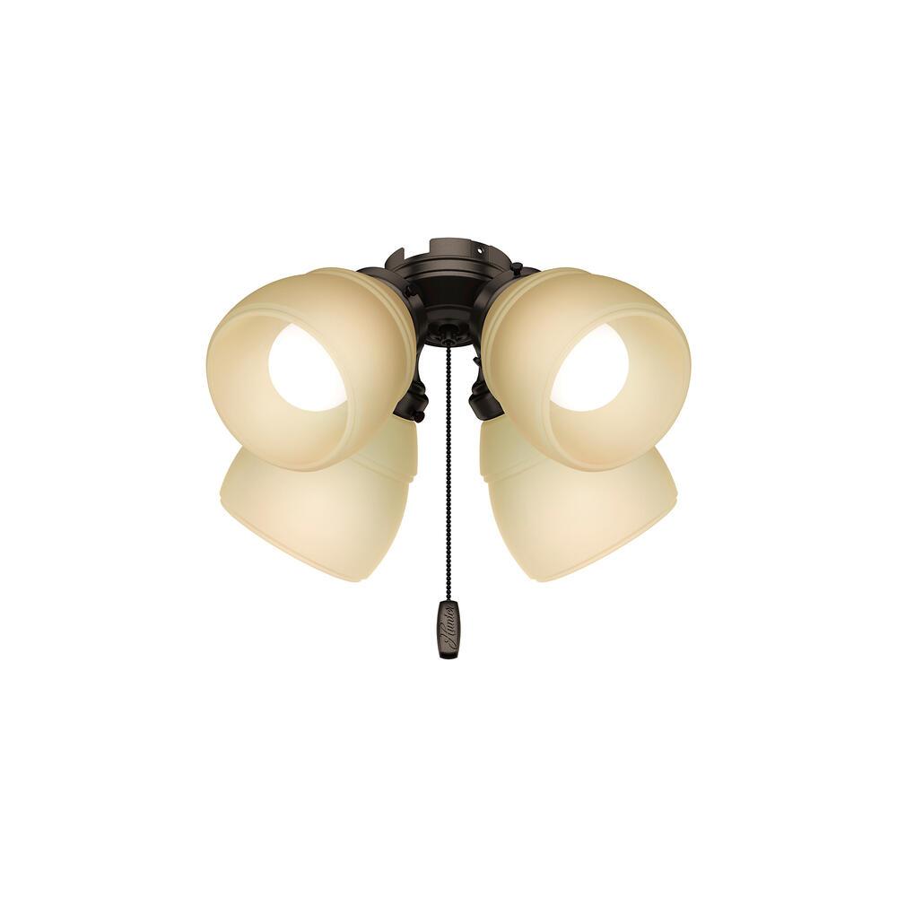 Hunter Fan 4 Light Premier Bronze Ceiling Fan Light At Menards