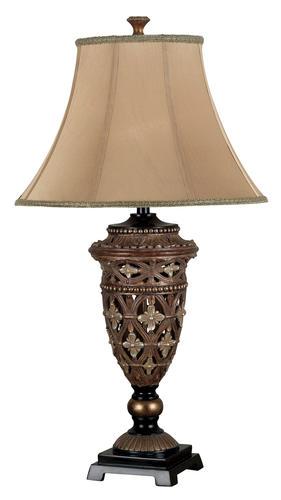 Hunter lighting sophie golden bronze table lamp at menards