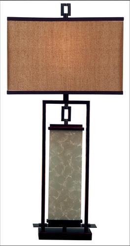 Hunter lighting plateau 32 oil rubbed bronze table lamp at menards