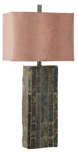 Hunter lighting ripple 32 natural slate table lamp at menards