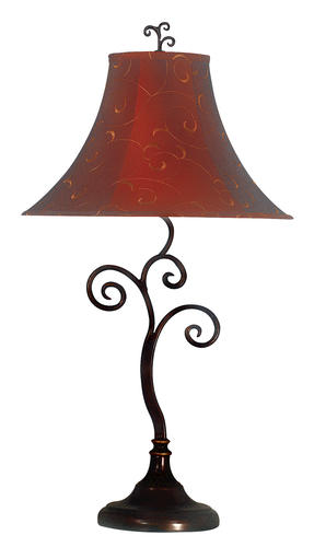 Hunter Lighting Mix And Match Richardson 16 Red Gold Fabric Bell Lamp Shade