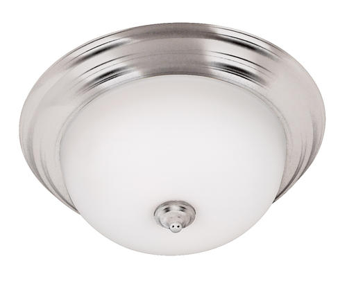 Hunter Lighting Triomphe Small Brushed Steel 1-Light Flush Mount Ceiling Light