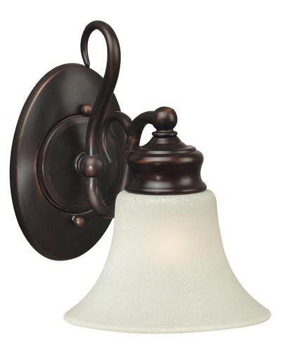 Bathroom Sconces Menards hunter lighting wildwood oil-rubbed bronze transitional 1-light