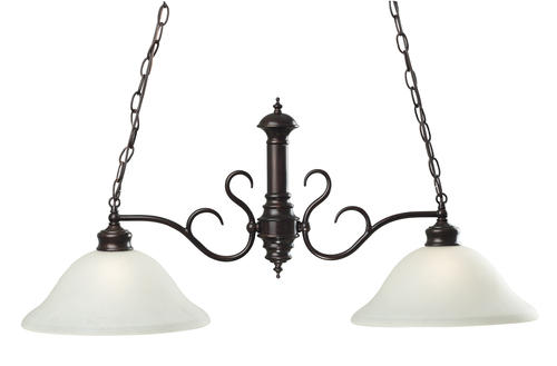 Hunter lighting wildwood oil rubbed bronze 2 light island light at menards