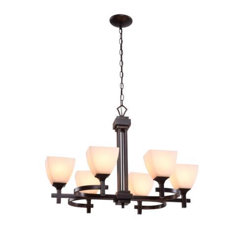 Hunter Lighting Omega Oil Rubbed Bronze Contemporary 6 Light Chandelier At  Menards®