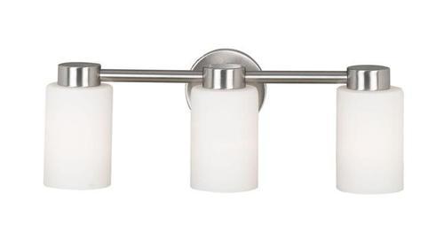 Hunter Lighting Cirrus Brushed Steel Contemporary 3 Light Vanity Lights At  Menards®