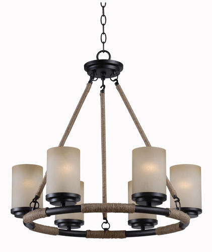 Hunter Lighting Alford Golden Flecked Bronze 6 Light Chandelier At MenardsR