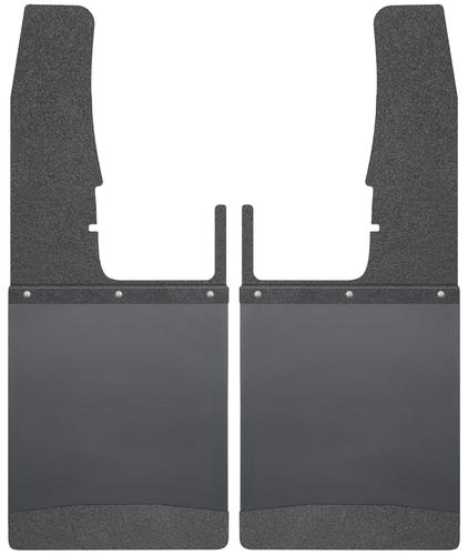 Black Husky Liners 17111 Universal Fit Kick Back Mud Flap 14 Wide Top and Stainless Steel Weight
